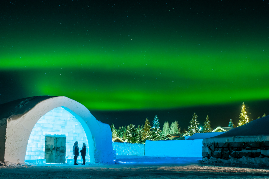 Norrsken vid Ice Hotel