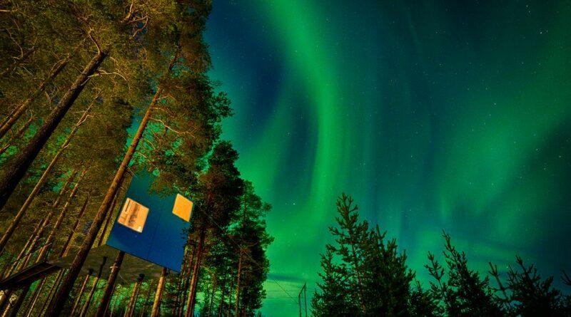 Norrsken vid Tree Hotel