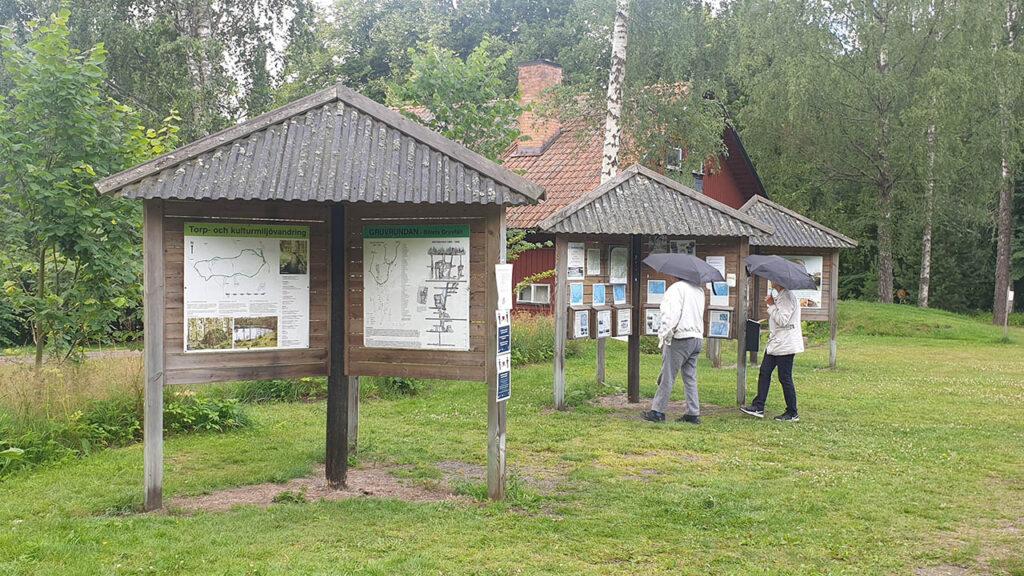 Djäknerundan, Karlsborg Tiveden - informationstavla vid start